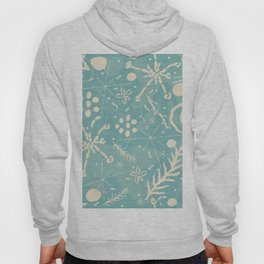 Winter Snowflakes and Doodles Hoody