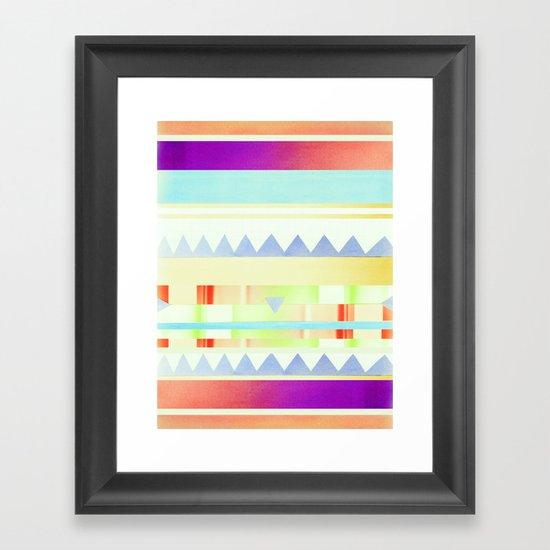 melted Framed Art Print