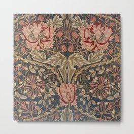 William Morris Honeysuckle Tuscany Italian Textile Floral Pattern Metal Print