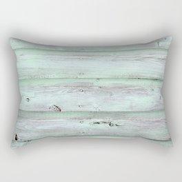 Green Barn Wood Rectangular Pillow