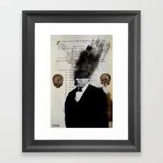 or thus... Framed Art Print