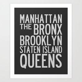 NYC Typography Design Art Print