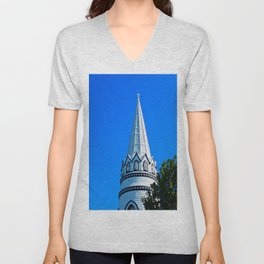 Church Steeple Statues Unisex V-Neck