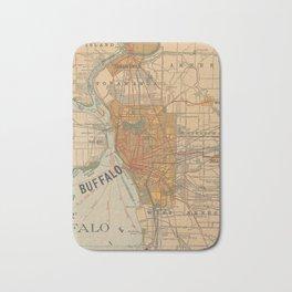 Vintage Map of Buffalo NY (1893) Bath Mat