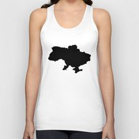 ukraine Tank Tops featuring UKRAINE SIMPLE MAP by DEAD RINGER DESIGN