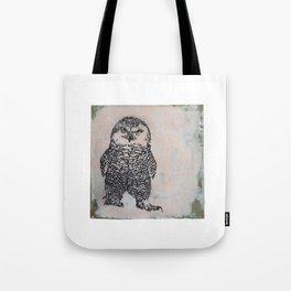 Snowy Owl Turf War Tote Bag