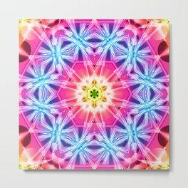 Crystal Hexagon Mandala Metal Print