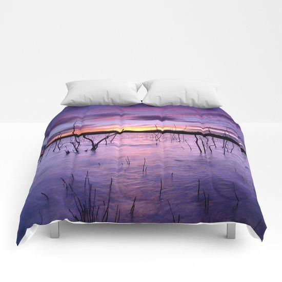 Purple waters Comforters