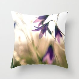 Bluebells in the meadow  Throw Pillow