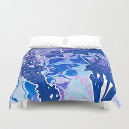 Lavender, Orchid, and Iris Duvet Cover