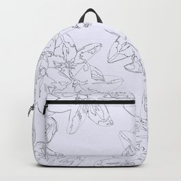 lavender line art floral pattern Backpack