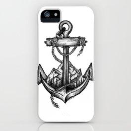 Anchor landscape iPhone Case