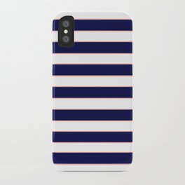 Double Stripes (Navy & Coral) iPhone Case