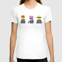 suits T-shirts featuring Three wise Monkey Suits by Simon Greening
