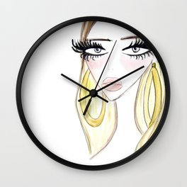Golden Lady Wall Clock