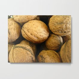 Wall Nuts Metal Print