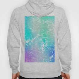 Modern turquoise purple watercolor abstract marble Hoody