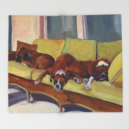 Boxer Dog Siesta Throw Blanket