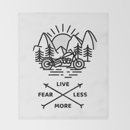 Live More Throw Blanket