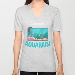 Aquarium Owner Fish Lover Fish Tank Funny Gift Unisex V-Neck