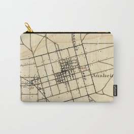 Vintage Map of Anaheim California (1894) Carry-All Pouch
