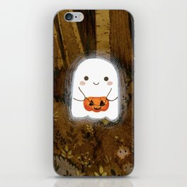 Little ghost and pumpkin iPhone Skin