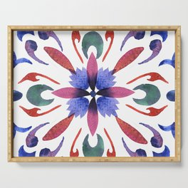 Floral ornament. Watercolor Serving Tray