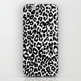Leopard Pattern (Black and White) iPhone Skin