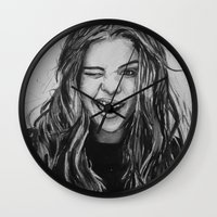 selena Wall Clocks featuring Hello Selena! by vooce & kat