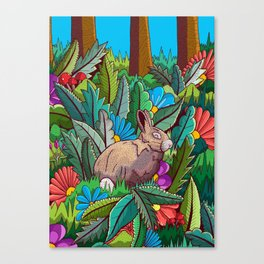 The rabbit of the woods Canvas Print
