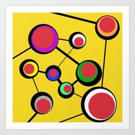 Mid Century Molecules Art Print