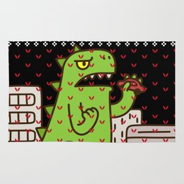 Godzilla Ugly Christmas Rug