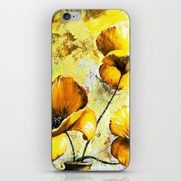 BIG YELLOW FLOWERS iPhone Skin