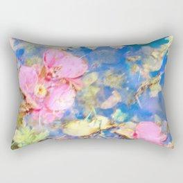 Fallen Camelias Rectangular Pillow