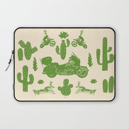 Cactus, Bikes and Wolfs Laptop Sleeve