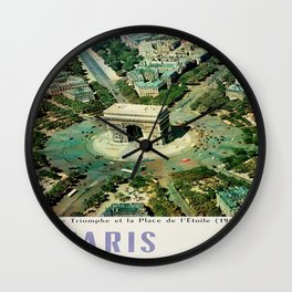 Vintage poster - Paris Wall Clock