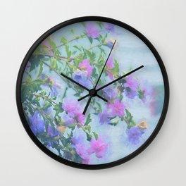 Soft Summer Floral Spray Wall Clock