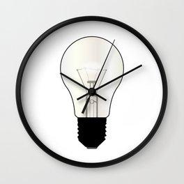 Isolated Light Bulb Wall Clock