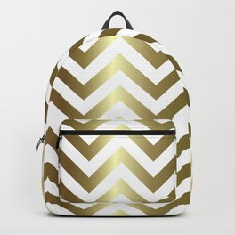 Gold Foil Chevron Pattern Backpack