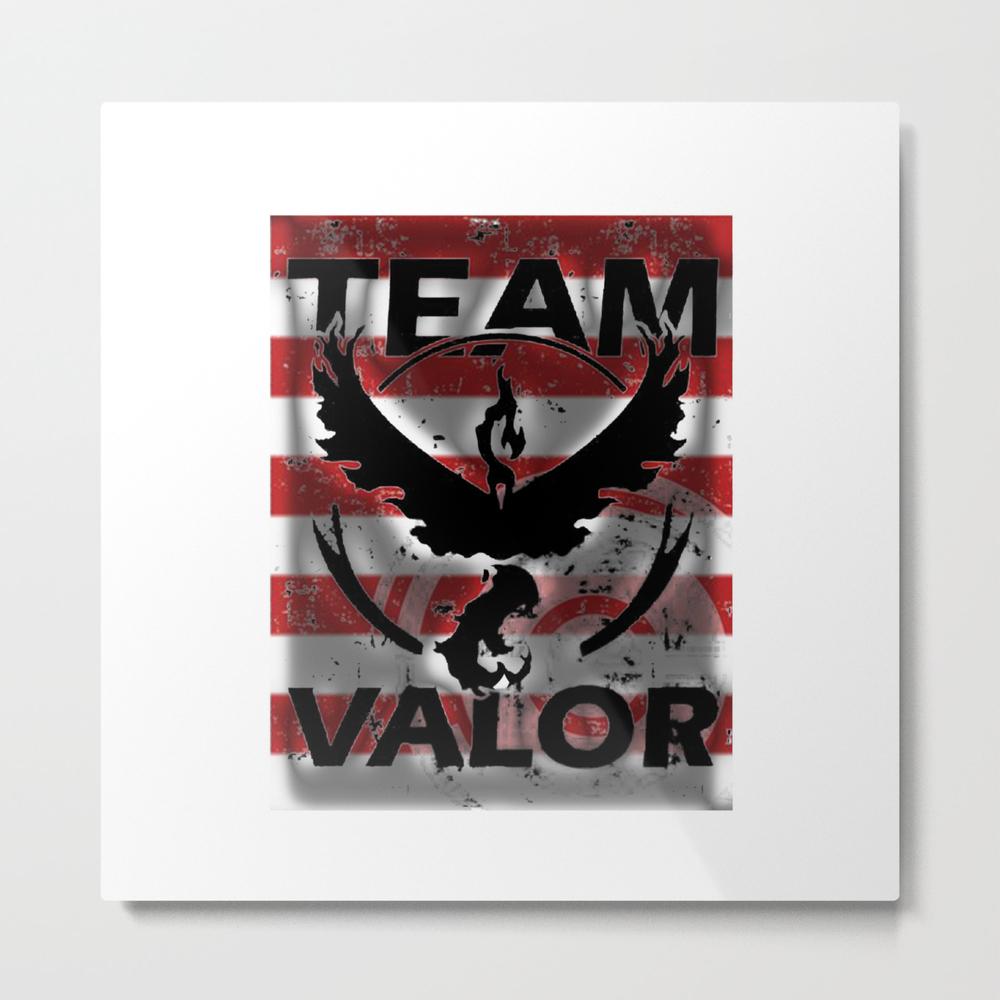 Team Valor Strip Metal Print by Nananastory13 MTP8492788