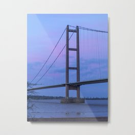 Humber Bridge Tower Metal Print
