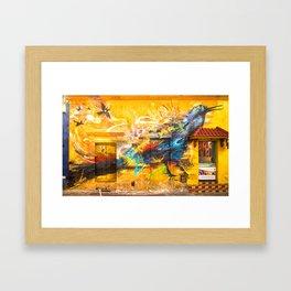Street Art Bird Framed Art Print