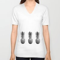 pineapples V-neck T-shirts featuring Cool Pineapples  by Yilan