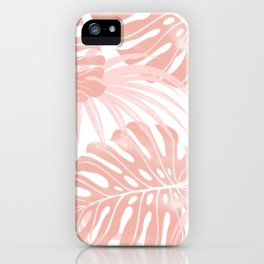 Blush Tropical Leaves iPhone Case