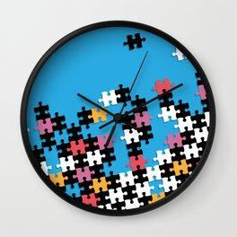 Puzzle Pieces Wall Clock