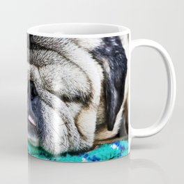 Tuckered Out Pug Coffee Mug
