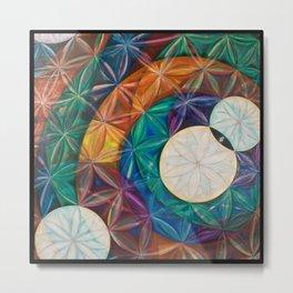 Tetrahedral Nodes Metal Print