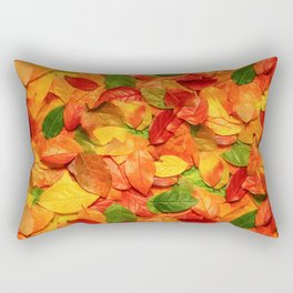 Autumn colors leaves pattern Rectangular Pillow