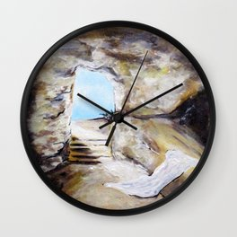 Empty Burial Tomb Wall Clock