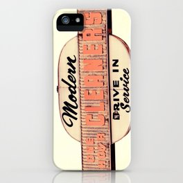 Modern Cleaners iPhone Case